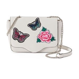Candies :: Floral Butterfly Crossbody Bag :: White
